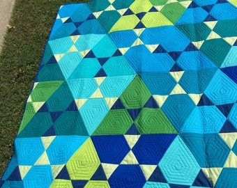 Blue Lotus Lap Quilt