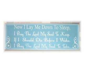 Now I lay me down to sleep... primitive wood sign