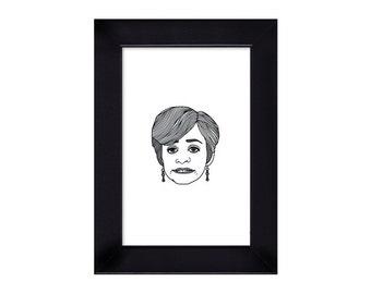 4 x 6 Jerri Blank / Strangers With Candy / Amy Sedaris portrait