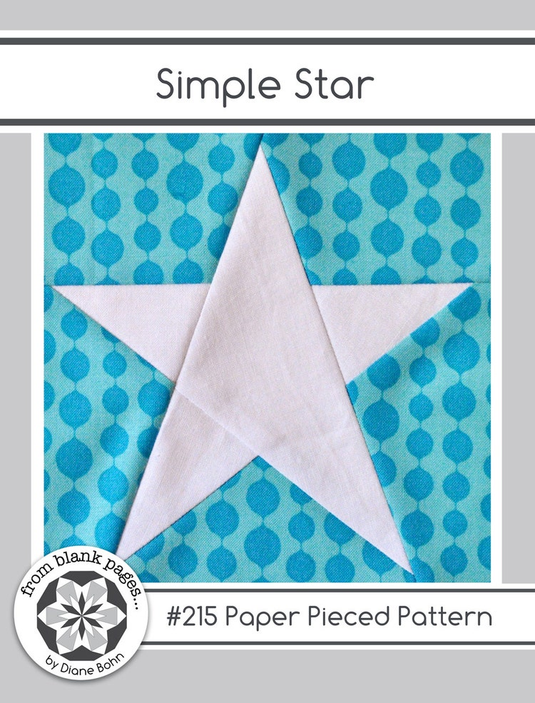 Simple Star 215 Paper Pieced Quilt Pattern Pdf By