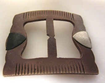 Deco Belt Buckle / Scarf Slide Vintage  30's