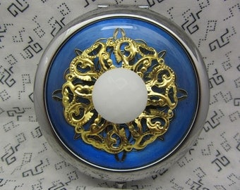 Compact Mirror Something Blue Comes With Protective Pouch