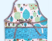 Apron , Smock , Laminated , Unisex , Toddler , Child , Chocolate Forest