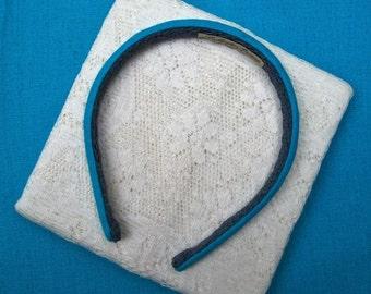 turquoise headband linen narrow