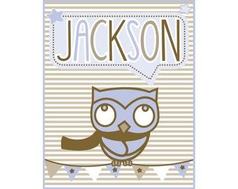 Boys Personalized Name Print Jackson