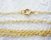 15 ~ 18 inch 14K gold plated Dainty Necklace
