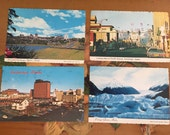 Alaska Postcards Vintage Souvenir Photos Travel USA set of 4 Posted 1970s Anchorage
