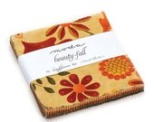 """SALE Beauty Fall Fabric - Moda - Sandy Gervais - Charm Pack - 5"""" Squares"""