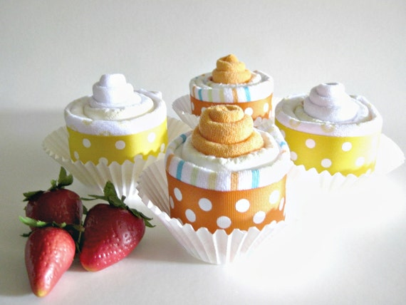 Diaper Cupcakes, Baby Shower Gifts in Bakery Box