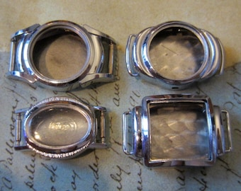Vintage  Watch parts - watch Cases -  Steampunk - Scrapbooking  v86