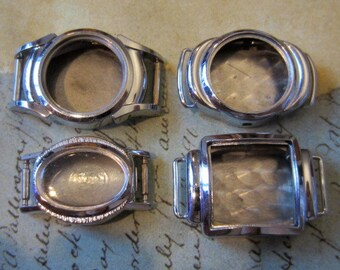 Vintage  Watch parts - watch Cases -  Steampunk - Scrapbooking  v86