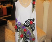 Custom Order For Ellen,   Upcycled  Top, Fairy Top, Embellished Top.