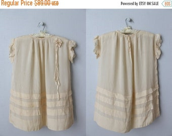 SALE Antique 1920s Flower Girl Dress / 1920s Bridesmaid Dress / Flapper Wedding