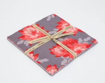 SUMMER SALE - 42 squares - 10 inch stacker - Desert Bloom - Amanda Herring - Riley Blake Designs
