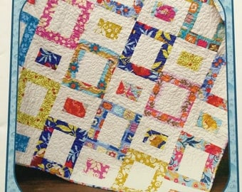 SUMMER PATTERN SALE - Painted Windows Quilt pattern by Carlene Westberg