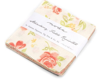 WINTER SALE - In Stock - Strawberry Fields Revisited - Charm Pack - Fig Tree Quilts - Moda Fabrics