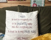 Sense and sensibility quote Pillow, Jane Austen quote sham, READY TO SHIP