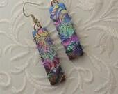 Dichroic Fused Glass Earrings - Crystal Earrings - Chandelier Earrings - Prism - Sterling Silver - Fused Glass - Dichroic Jewelry 2957
