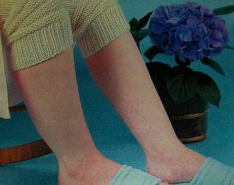 Knee Warmers Vintage Knitting Pattern