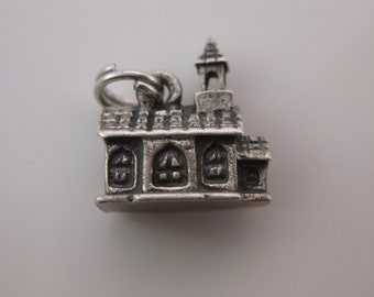 Vintage Beau Sterling Silver Church Chapel Bell House Charm