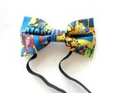 Adult Superman Inspired Elastic Bow Tie