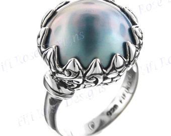 Flower Mabe Pearl Sterling Silver Us 7 Ring