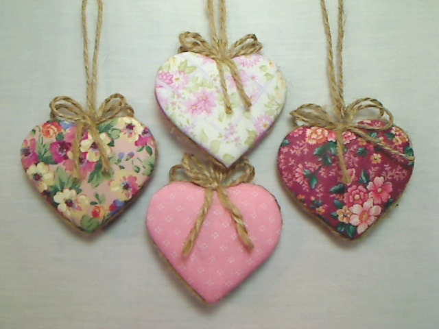 pink heart ornaments party favor wedding bridal