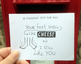 Hand Drawn Postcard! Your message, my style, sent to whoever you like!