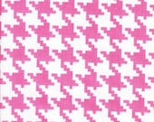 25% off Michael Miller Everyday Houndstooth Pink  - Fabric 1 yard off of bolt (more available)