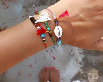 Wholesale Jewelry. Wholesale Cord Bracelets with Charms. Set of 12.  Delicate Charm Bracelets.Boho Bracelet. Friendship Bracelet.