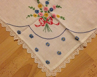 Small Embroidered Table Cloth