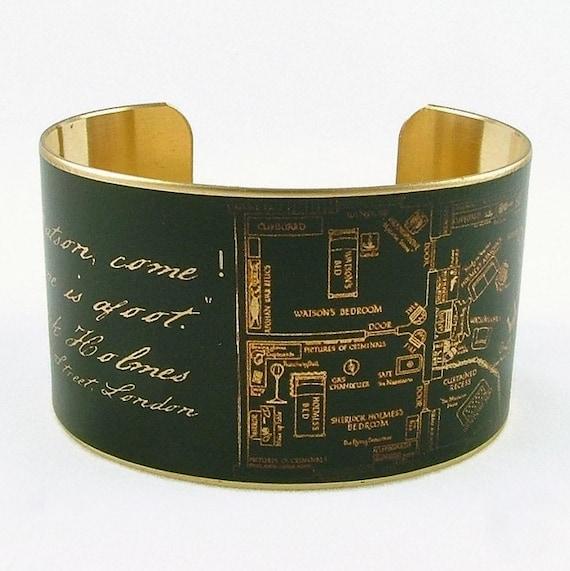 Sherlock Holmes Brass Cuff Bracelet