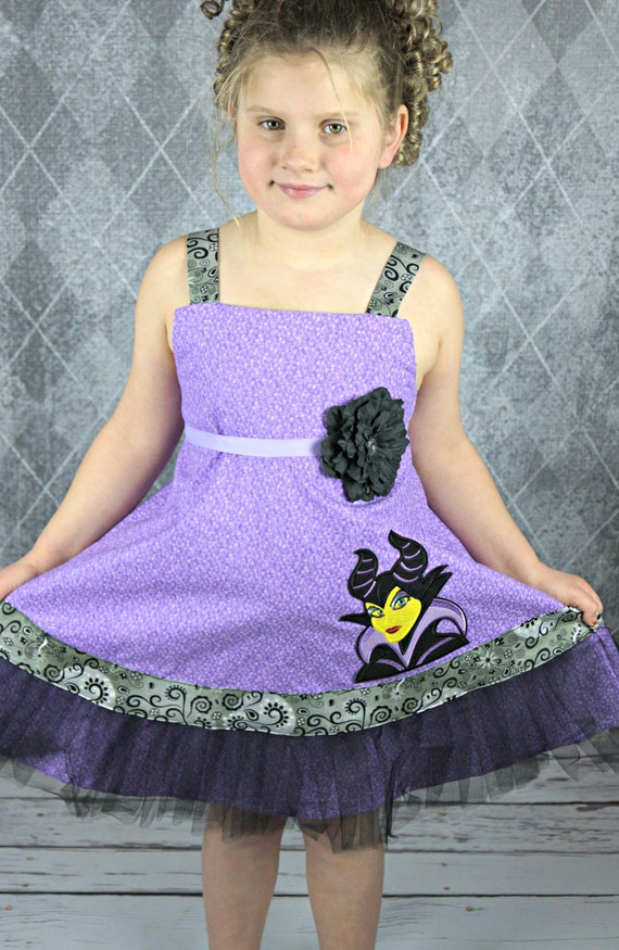 Custom Boutique Disney inspired maleficent dress ready to ship size 7 sale