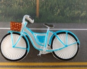 Edible Fondant Bicycle-Bicycle Cake Topper-Edible Bike Fondant Topper-Set of 6 Bikes