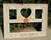 Vintage Real Seashell Sand Picture Frame Beach Wedding Photo Wall Hanging Sea Shell Art Mosaic Shabby Chic Decor