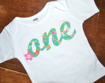 First Birthday Outfit Girl First Birthday Shirt One Year Old Shirt Floral 1st Birthday Shirt
