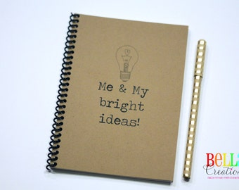 Me and My Bright Ideas Kraft Blank Journal