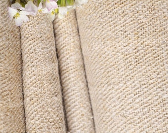 R 456 antique upholstering fabric PALE CREAMY runner stairrunner fabric 8.52y handloomed biological fabric primitive