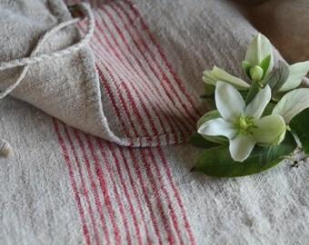 c 690 grain sack,  antique linn;  wedding decoration; christmas, LIN, FRENCH RED;  pillow benchcushio thanksgiving; gift bag