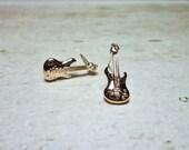 SALE - Bass Guitar Stud Earrings, Dainty Earrings