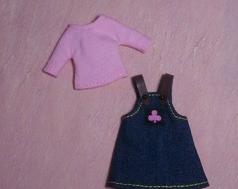 Top and Jeans Suspender Skirt for Middie Blythe