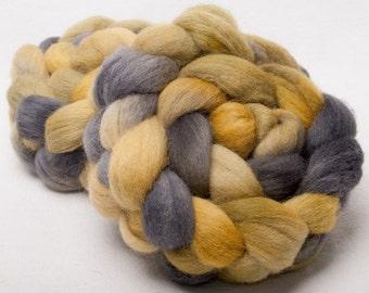 CHEVIOT 100g hand painted British wool tops roving fibre  roving Wheat