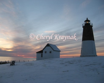 Lighthouse at Point Judith Rhode Island - Custom Photographic Print