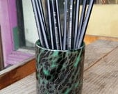 Turquoise Pen Cup with Bl...