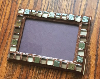 Brown Tumbled Stone Picture Frame (holds a 4 x 6 photograph)