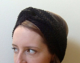 knitted ANNE HEADBAND /  winter warm retro turban style / wool