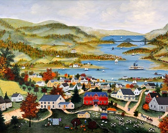 View of West Point - Limited Edition Print _ by J.L. Munro