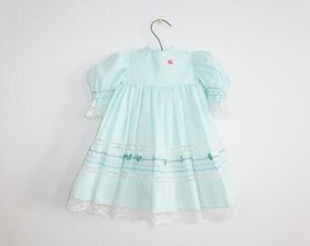 Vintage Aqua Baby Dress