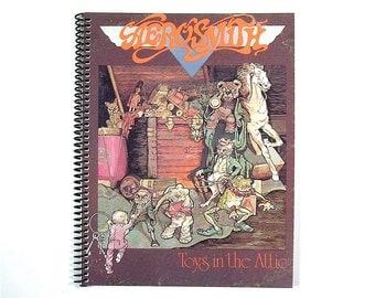Aerosmith Vinyl Record Album Cover Art Spiral Notebook / Journal 1975 (Toys in the Attic)