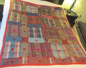 Vintage Taffeta Quilt not perfect SALE